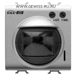 Инфракрасный детектор движения- для встраиваемого монтажа, время задержки отключения 10с-5мин, дальность действия: 10м, 2 модуля, цвет белый  1