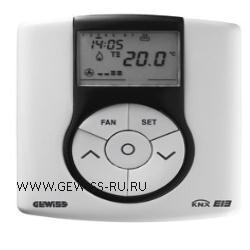 Термостат для управления системами нагрева/кондиционирования по шине, настенный монтаж, EIB, цвет белый CHORUS 1