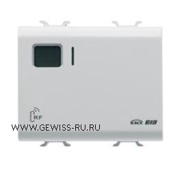 8-канальный радиоприемник, встраиваемый монтаж, 2 модуля, цвет белый  1