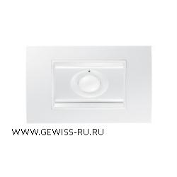 Датчик движения+освещенности, радиошина, рамка LUX белый CHORUS 1