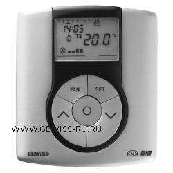 Термостат для управления системами нагрева/кондиционирования по шине, настенный монтаж, EIB, цвет титановый CHORUS 1