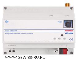 Интерфейс удаленного управления GSM-EIB, установка на DIN рейку, 230В, 6 модулей DIN 1