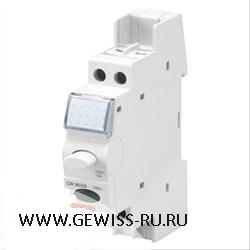 Нажимные кнопки с подсветкой, 12-24-48В переменного/постоянного тока, 1 мод, 1 обычно закрыт, светодиод- красный  1