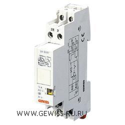 Импульсное реле с центральным управлением, 16А, 1 переключение, 1мод, 24В напряжение постоянного тока  1