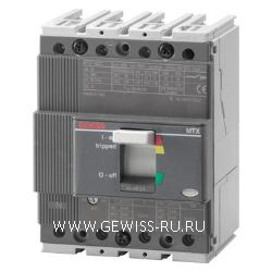 Автоматический выключатель в литом корпусе для систем распределения электроэнергии, MTX 160c, TM1 10lth, 3Р, 25А, C(25кА)  1
