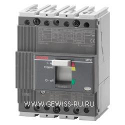 Автоматический выключатель в литом корпусе для систем распределения электроэнергии, MTX 160c, TM1 10lth, 3Р, 100А, C(25кА)  1