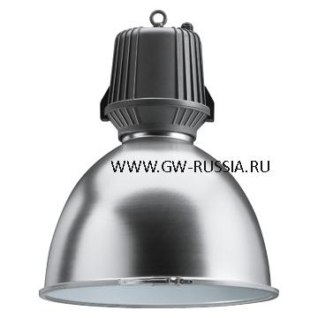 GW83905C_Светильник HALLE в оборудованном исполнении в комплекте с лампой, IP65 Класс I - электронный блок питания, со стеклом, 220/240V-50/60Гц 210Вт MT PGZ-18 2.1A, серый графит