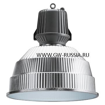 GW83505_Светильник HALLE без электропроводки, со стеклом 400Вт Е40, серый графит