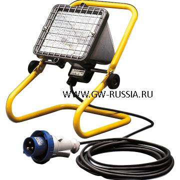 GW84205_Передвижной прожектор IP55, Класс I, 1000Вт HD R7s 4.3A, серый титан