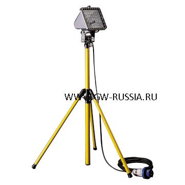 GW84220_Прожектор на регулируемой телескопической поддержке, IP55, Класс I, 500Вт HD R7s 2.1A, серый титан