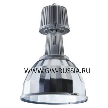 GW84871_KONO Светильник, оборудование для возгораемой поверхности, со стеклом, 400Вт Е40, серый