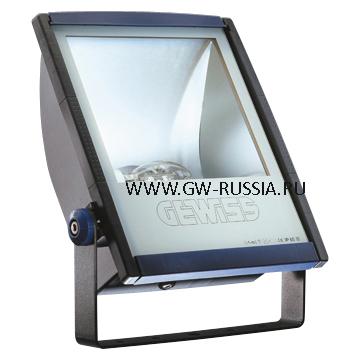 GW85093_Прожектор без электропроводки, одобрен для спорт.объектов, 150Вт RX7s 445х335х138