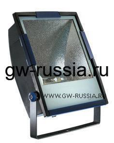 GW85192_Прожектор без электропроводки, одобрен для спорт.объектов, двойная изоляция, 400Вт E40 630х453х200