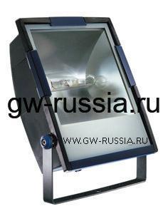 GW85291_Прожектор без электропроводки, одобрен для спорт.объектов, двойная изоляция, 400Вт E40 630х453х200