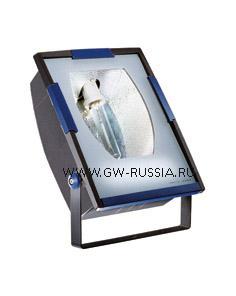 GW85293_Прожектор без электропроводки, одобрен для спорт.объектов, двойная изоляция, 250Вт E40 630х453х200