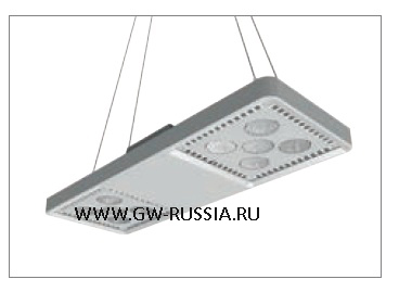 GWL1371_Светильник Smart [4] Highbay подвесной 4+4 Led 248W (экв. 400W ME) оптика рассеивающ. 100°