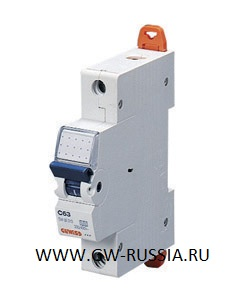 Модульный автоматический выключатель серии Compact, MT100, 1 А, 1P, 1 модуль, 10кА, характеристика D