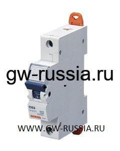 Модульный автоматический выключатель серии Compact, MT100, 10 А, 1P, 1 модуль, 10кА, характеристика D
