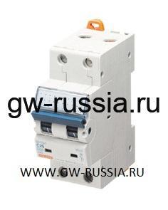 Модульный автоматический выключатель серии Compact, MT100, 10 А, 2P, 2 модуля, 10кА, характеристика С