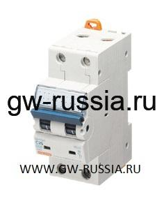 Модульный автоматический выключатель серии Compact, MT100, 1 А, 2P, 2 модуля, 10кА, характеристика D