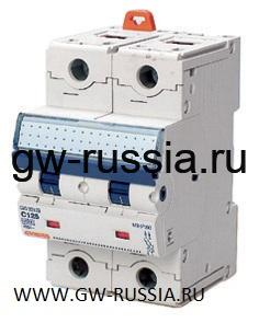 Модульный автоматический выключатель серии Compact, MTHP160, 125 А, 2P, 3 модуля, 10кА, характеристика C