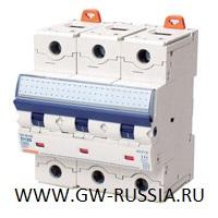 Модульный автоматический выключатель серии Compact, MTHP160, 125 А, 3P, 4,5 модуля, 10кА, характеристика C