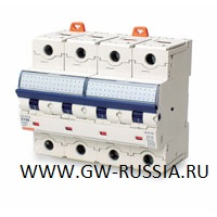 Модульный автоматический выключатель серии Compact, MTHP160, 125 А, 4P, 6 модулей, 10кА, характеристика C