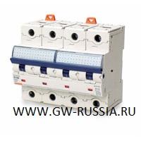 Модульный автоматический выключатель серии Compact, MTHP160, 100 А, 4P, 6 модулей, 10кА, характеристика D