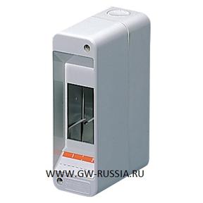 Настенный распределительный щиток, серый, 2 мод, IP40