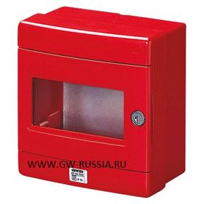 Герметичный щит для аварийного управления и специального применения с пластиной основания из оцинкованного листа, красный
