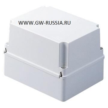 Ответвительная коробка с высокой крышкой на винтах- IP56 -серая, 190х140х140, макс. ? отверстий 37 мм, винты крышки (кол-во, тип) 4 изол.шарнирные герметичн.