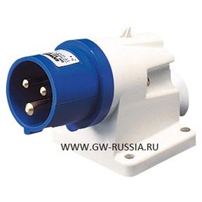 Стационарная настенная вилка с наклонос 90° IP44-50/60Гц ...: http://gw-russia.ru/all/gw60415/