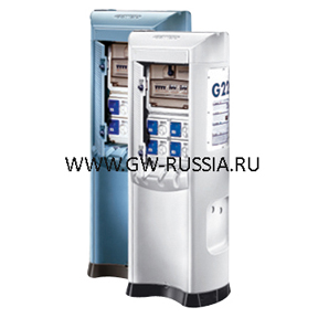 Электротехническая колонна голубая IP44, выкл.-разъединит. 1х32А, УЗО 6х10А, разъем IEC 309 2P+E 6x16A