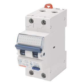 Автоматический выключатель дифференциального тока, MDC 100, 10 А, 2P, 2 модуля, 100 мА, 10кА, характеристика С, тип A