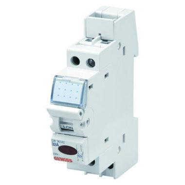Выключатель со светодиодом, 1Р, 32А, 1мод