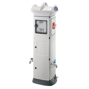 Электротехническая колонна белая IP56, выкл.-разъединит. 1х63А, УЗО 4х32А, разъем IEC 309 2P+E 4x32A