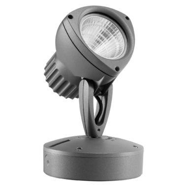 DEDALO - LED - ПРОЖЕКТОР —  Круговая оптика 45° 4000K (CRI 80) 18Вт 1200Lm IP66 Графитовый серый