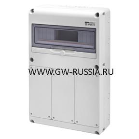 Влагозащищенные пустые щитки RAL 7035-IP65, 3 IB верт. 16/32A IP67, кол-во мод. 14
